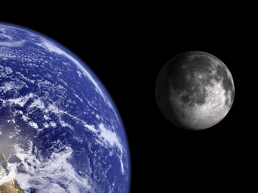 Earth and Moon.